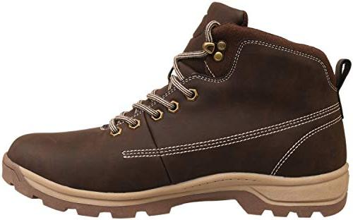 WHITIN Toe Leather Work Boots Rubber Roofing for Hiking Winter Snow Fashion Carolina Industrial Brown
