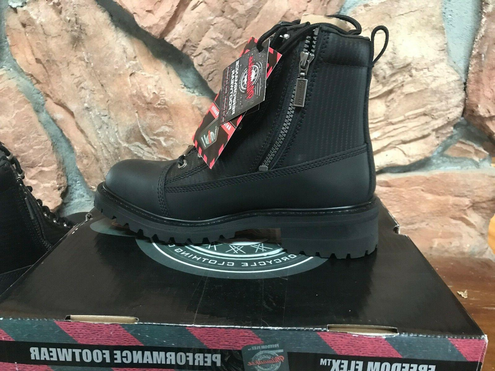 Milwaukee Motorcycle Accelerator Leather Boots MMCC