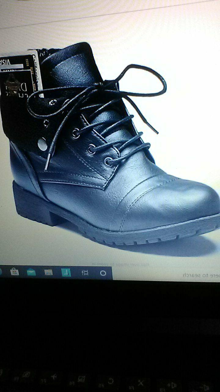motorcycle style boots ankle pocket combat boot