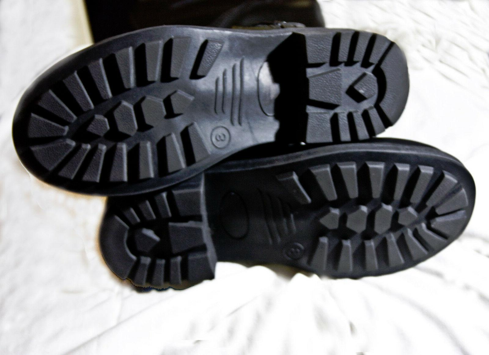 multi-zipper high boots black size free
