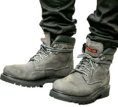 new harley davidson mens bayport grey leather