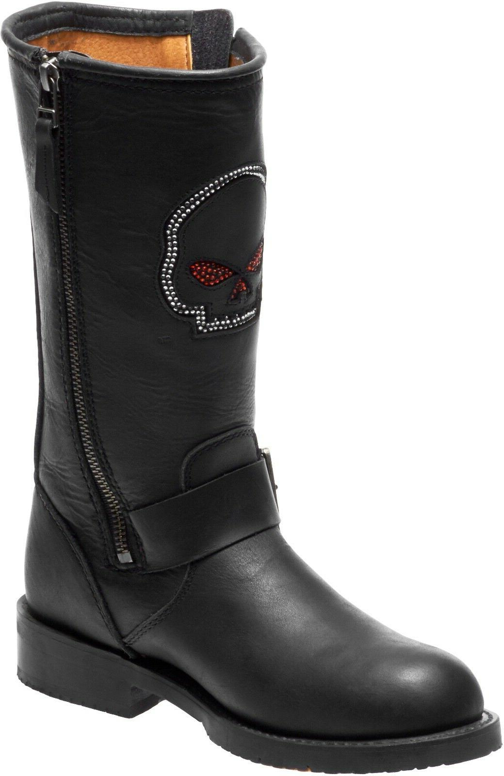 NEW HARLEY-DAVIDSON WOMEN'S MOTORCYCLE BOOTS D87134