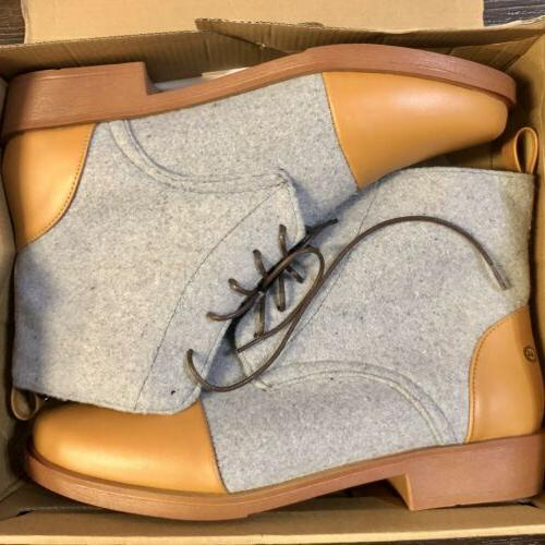 new in box jack boot grey brown