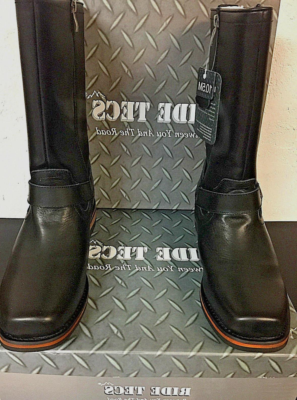 NEW Mens Tecs Double Zipper Boots Black