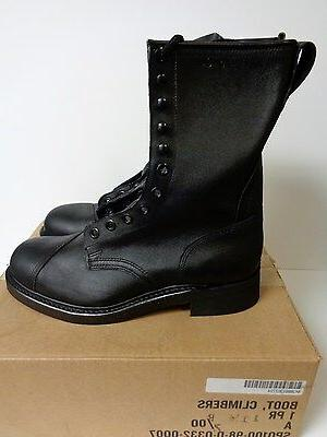 New U.S. Military Steel Toe Leather