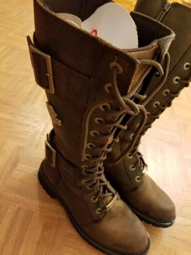 NWT Harley-Davidson Brown Tall Leather Boots Size