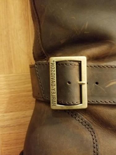 NWT Harley-Davidson Women's Brown Tall Leather Motorcycle Boots Size 9M