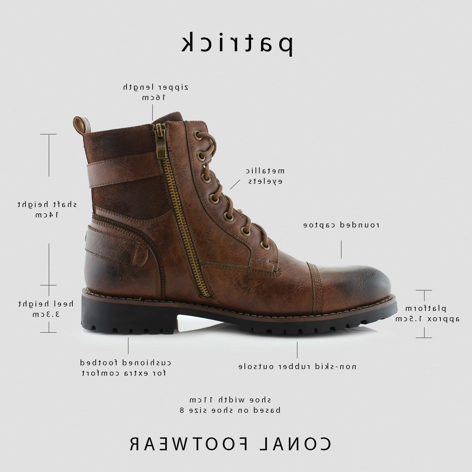 Men's Casual Boots Riding Hiking Waterproof Synthetic