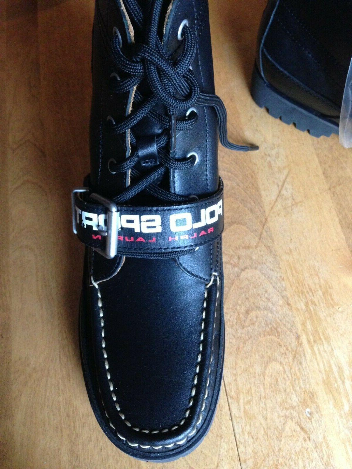 Polo Ralph Polo Ranger Boots 14557G19 Black/Black US Size 9