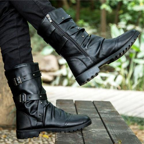 Punk Boots Leather Casual ZL