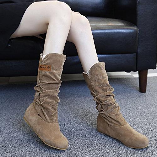 LandFox Shoes, Autumn Shoes,Woman Flat Heel Boot