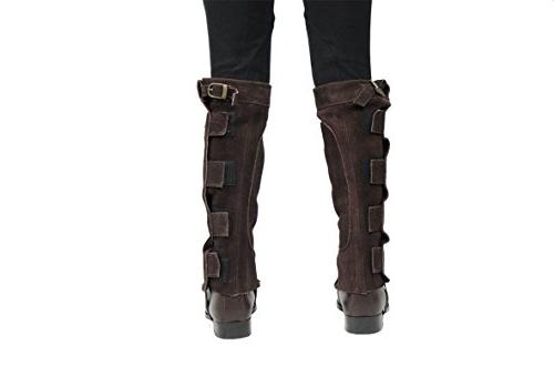 Derby Suede Chaps Velcro Closure for or Motorcycle Use