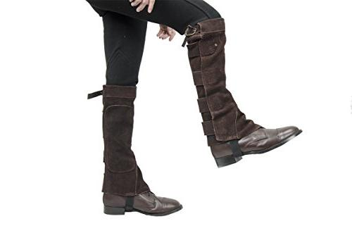Derby Chaps with Velcro for Horse or Motorcycle
