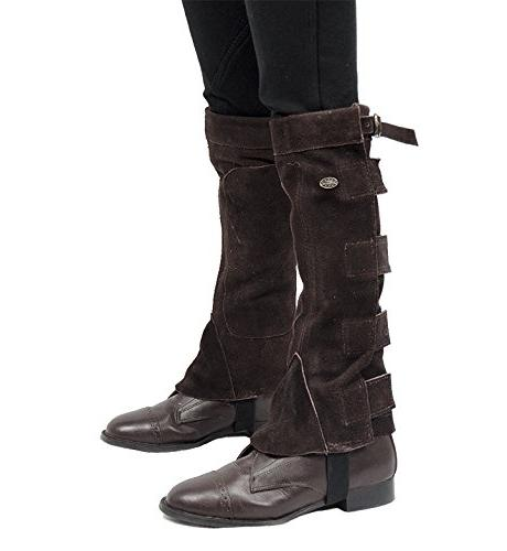 Derby Suede Leather Chaps Velcro for Riding Motorcycle Use