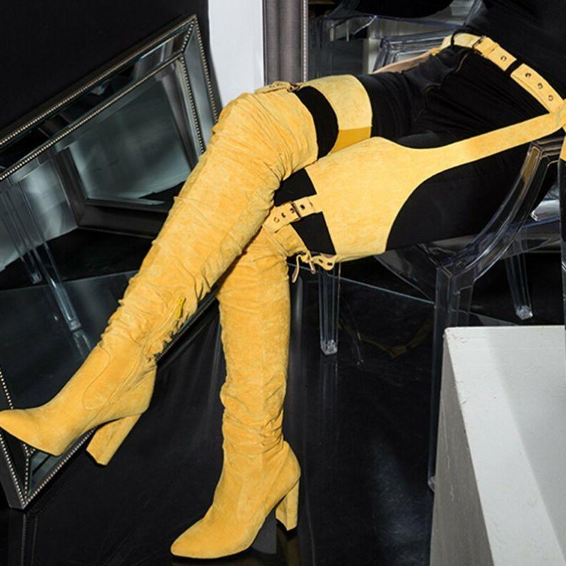 Tall Winter Heel Strap Zip