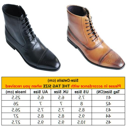 US Men's Ankle Dress Boots Motorcycle Boots Oxford