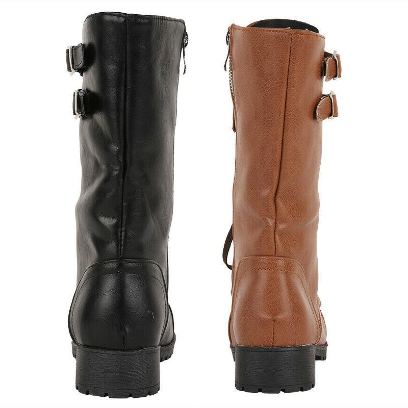 US Vintage Biker Boots Double Leather Tall Boots