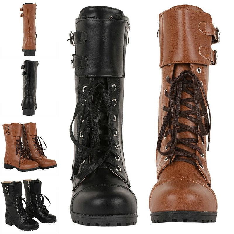 us mens military vintage biker boots double