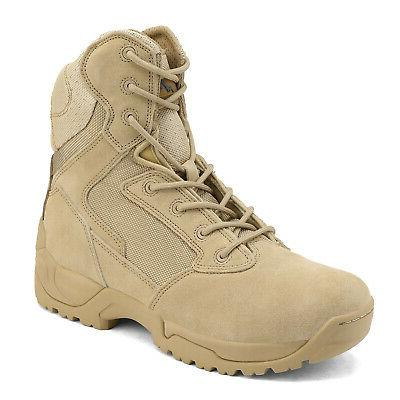 Men's Tactical Boots Hiking Motorcycle Bootie New