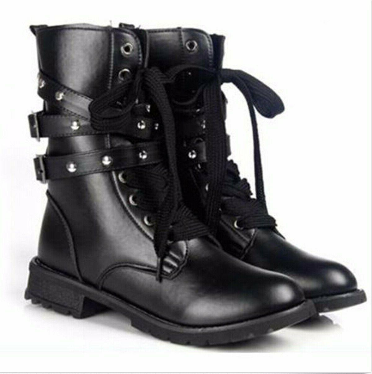 Boots Military 3 Buckle Shoes