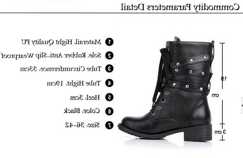 US Women's Boots 3 Buckle Shoes
