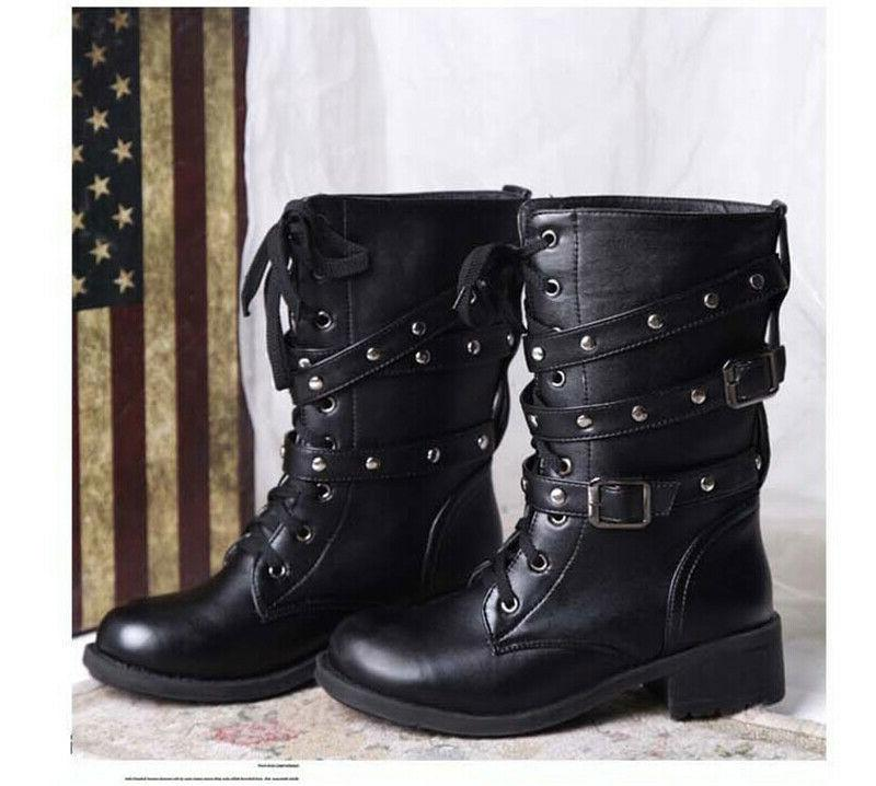 US Boots Military 3 Buckle Mid Shoes