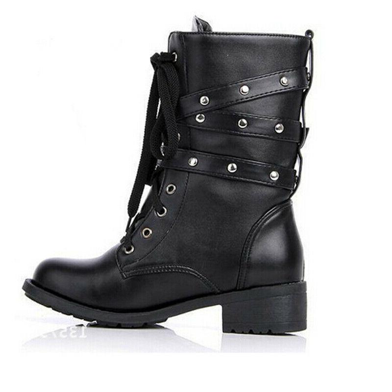 US Boots Motorcycle Biker Military 3 Mid Shoes