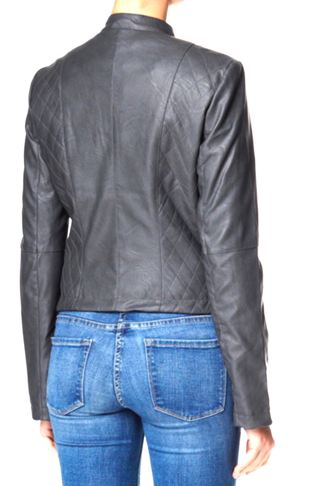 Tart Collections Moto Jacket Steel Women's Med MSRP NWT
