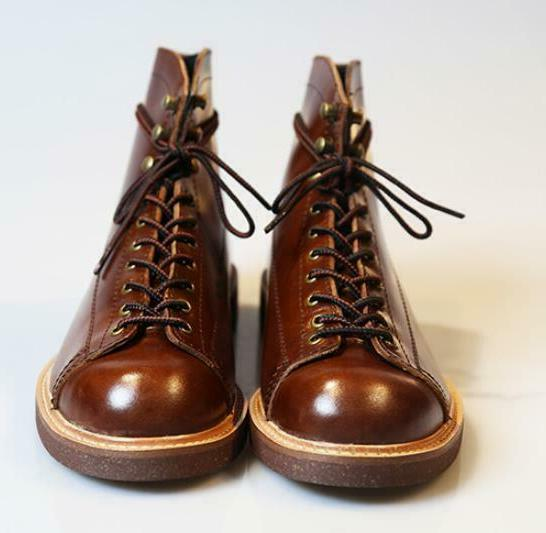 Vintage Leather Ankle Shoes High Top