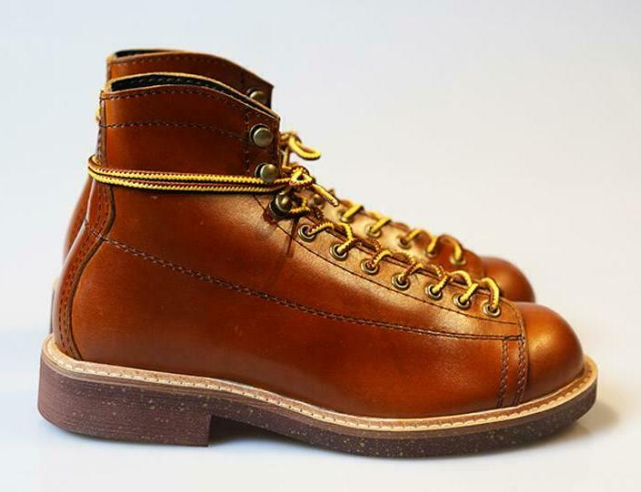 Vintage Leather Motorcycle Shoes