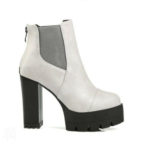 Women Platform Size Zip Shoes