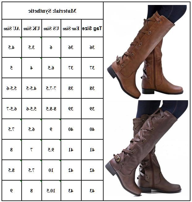 Women's Low Heel Knee Calf Riding Shoes