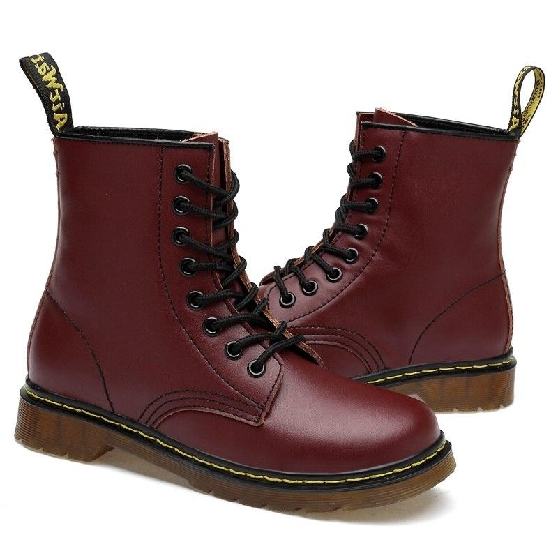 Everythsoul Women <font><b>Boots</b></font> Genuine Leather for Women <font><b>Motorcycle</b></font> Winter Couple Shoes