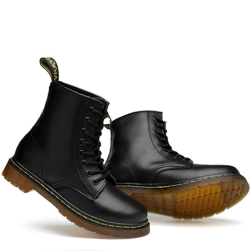 Everythsoul Leather for Women <font><b>Motorcycle</b></font> Shoes Warm Winter Couple