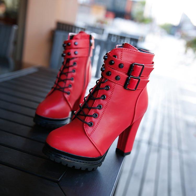 Aleafalling Women <font><b>Motorcycle</b></font> <font><b>Boots</b></font> New Woman's 11cm <font><b>Boots</b></font> <font><b>Casual</b></font> Lady