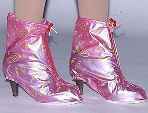 HHLJ Heels anti-skid Rain Shoe Covers Zippered PVC Waterproof ,
