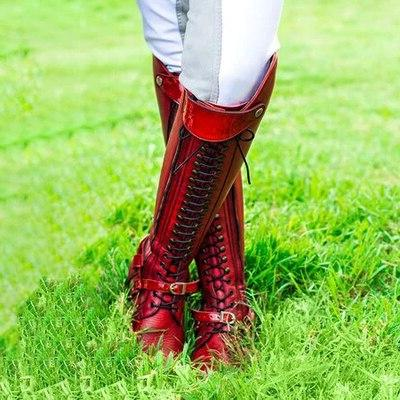 Women Knee High <font><b>Motorcycle</b></font> <font><b>Boots</b></font> Lace Shoes Heels mujer invierno wxz292