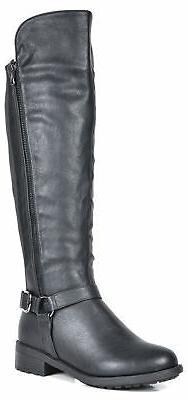 DREAM Women Heel Ladies Calf Riding Boots