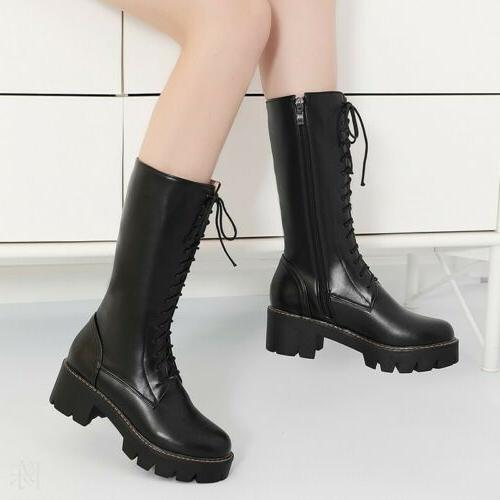 Women Mid Calf Up Military Biker