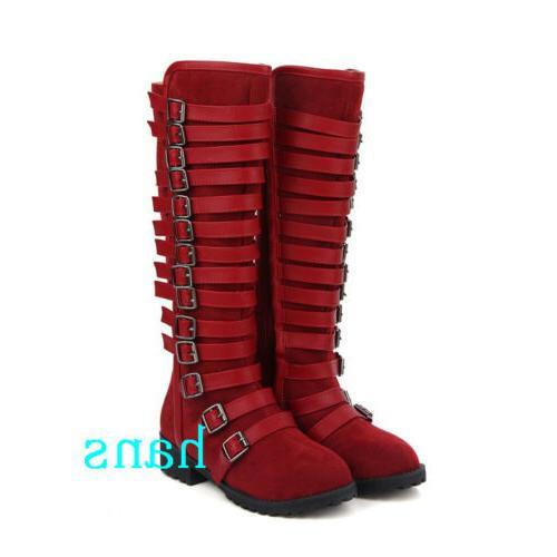 Women Boots Flat Heels Zip Size 12
