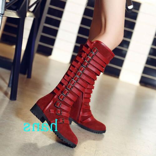 Women Motorcycle Boots Multi Flat Heels Size 12