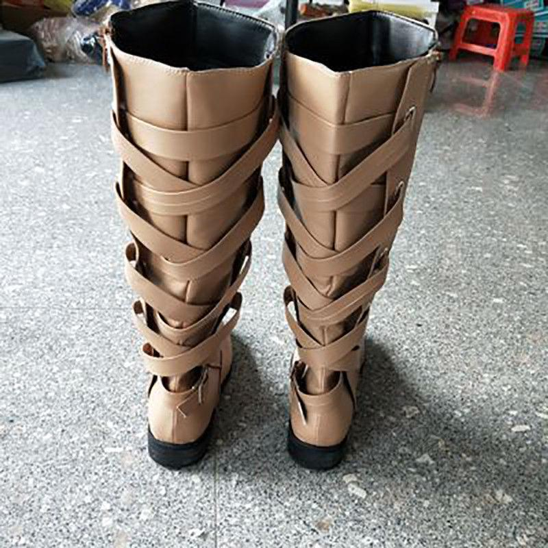 Women Riding Shoes Knee Ladies Calf Boots