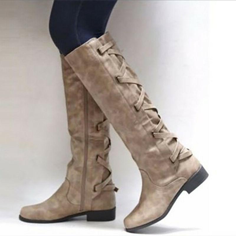 Women Shoes Flat Knee Ladies