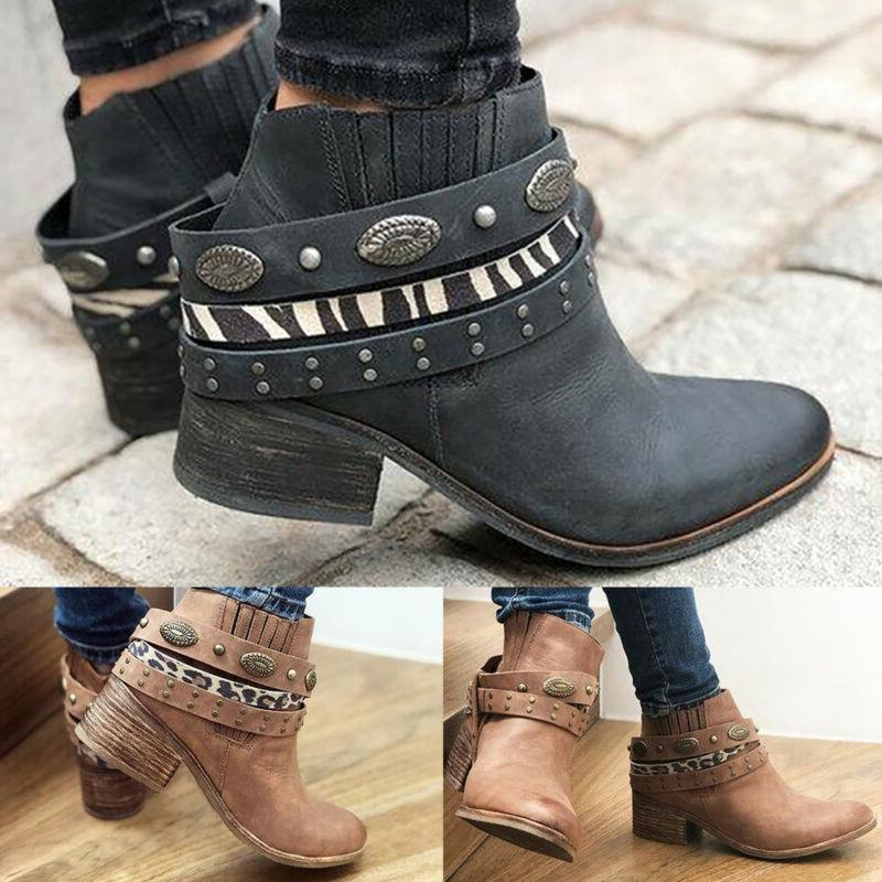 Women Boots Low Size