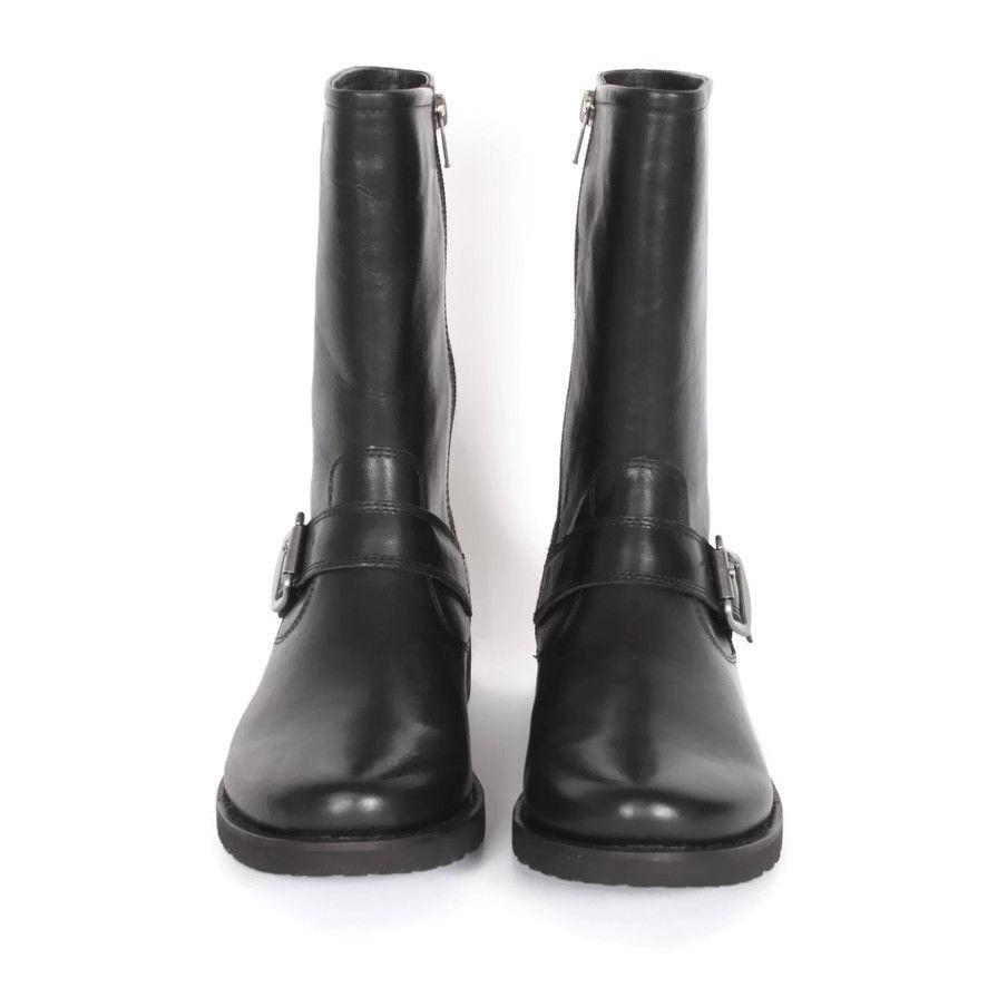 206 Black Leather Motorcycle Boot size US