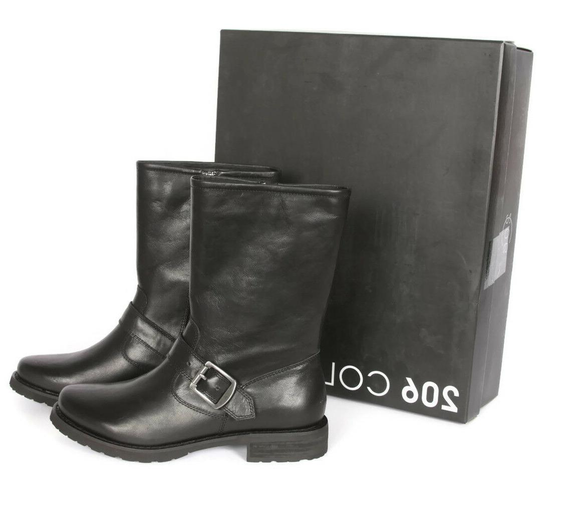 206 Collective Brinnon Black Motorcycle Moto Boot size US