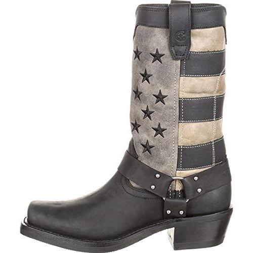Durango Flag Boot Motorcycle, Grey,