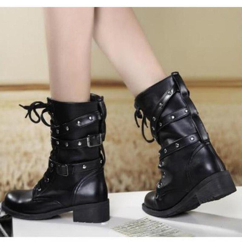 Women's <font><b>Boots</b></font> <font><b>Boots</b></font> Mid-Calf <font><b>Boot</b></font> Black