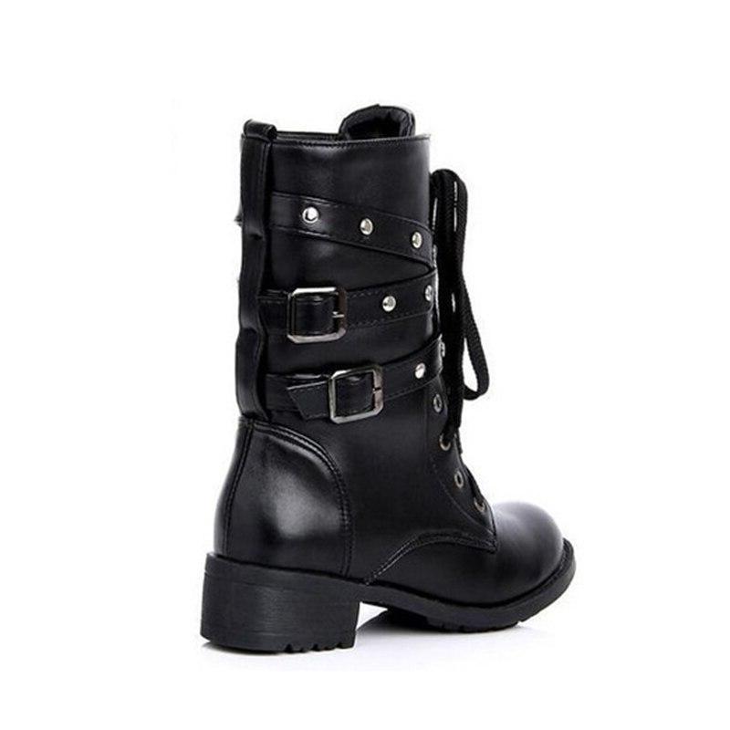 Women's <font><b>Boots</b></font> Woman 2019 Rivet <font><b>Boots</b></font> Mid-Calf Black