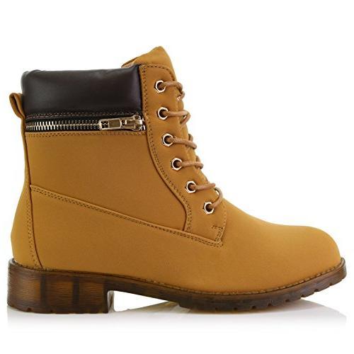 DailyShoes Padded Side Booties, Brown 6 B